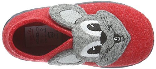 Superfit Happy, Chaussons fille Rouge (FIRE KOMBI 71)