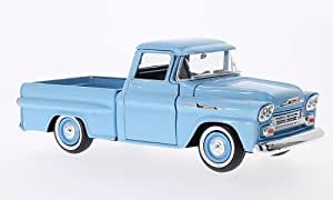 Chevrolet Apache Fleetside Pick Up, hellblau, 1958, Modellauto, Fertigmodell, Motormax 1:24