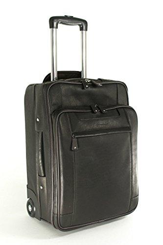 Cortez - Bagage à roulettes taille cabine - compartiment pour ordinateur portable - cuir - marron clair