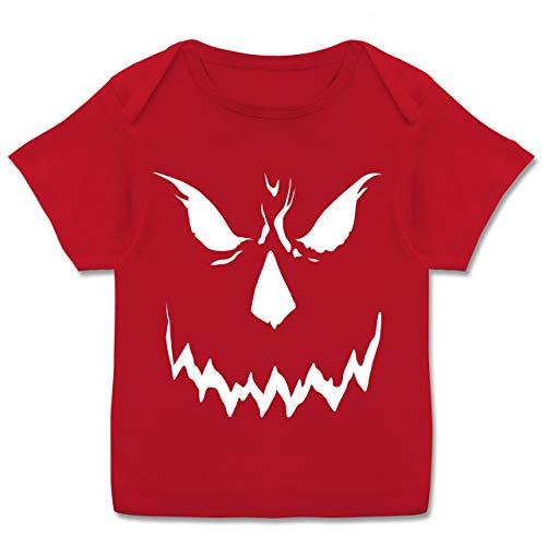 Anlässe Baby - Scary Smile Halloween Kostüm - 56-62 (2-3 Monate) - Rot - E110B - Kurzarm Baby-Shirt für Jungen und Mädchen