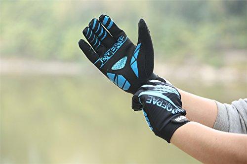 Lerway Winter MTB Handschuhe Gepolstert Race Fahrrad Handschuhe Sporthandschuhe für Radsport ,Outdoor Sport Mountainbike Damen und Herren Gloves (XL, Blau) - 3