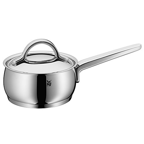 WMF Saucepan Ø 20 cm Approx. 3.3L Concento Inside Scale Steam Vent Made in Germany Hollow Handles Metal Lid Cromargan® Stainless Steel Polished Suitable for Induction Hobs Dishwasher-Safe