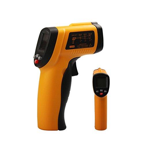 Preisvergleich Produktbild Infrarot-Thermometer, YH-THINKING Berührungslose IR Digital Infrarot Laser Thermometer Temperatur Meter Gewehr Point Range -50 ~ 550 (-58~1022) Emissivity 0.1~1 Adjustable