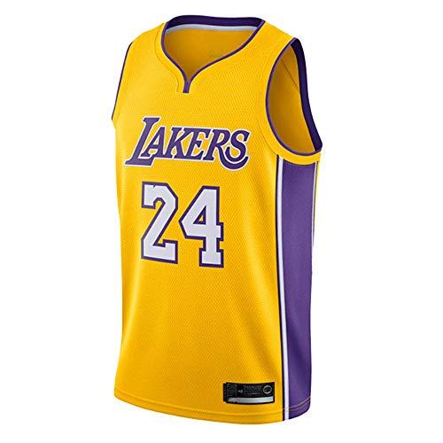 AMJUNM Herren Basketball Trikot NBA Lakers 24# Kobe Bryant Jersey Herren Basketball Anzug Atmungsaktiv Weste