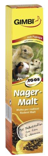 GIMBI Nager-Malt Paste - Gesunder Snack für Nagetiere mit Malz und Ballaststoffen unterstützt eine gesunde Verdauung - 1 Tube (1 x 50 g)