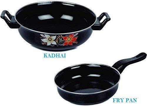 FASNO Cookware Set(KADHAI and Fry PAN Set) /Induction Base Cookware Set/Cookware Pan Set/Non Stick Set/Popular Induction Non-Stick Cookware