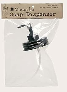 Bocal Mason Jar, couvercle noir-Distributeur de savon liquide (ou de Lotion)