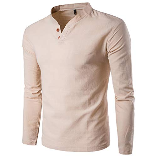 san francisco e8ee2 5f2f5 ZODOF Hombre Camisa Manga Larga Slim Fit Panel Delgado Formal en otoño  Casual Top Blusa de