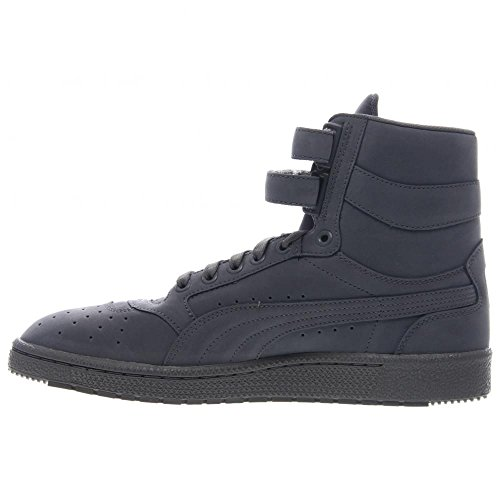 Puma Sky Ii Salut Mono Nbk Hommes Gris Nubuck High Top Lace Up Sneakers Chaussures steel gray-white