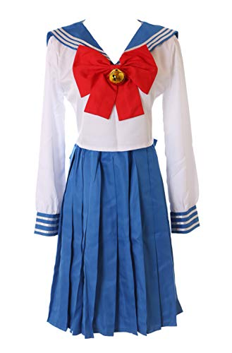 Kawaii-Story MN-76 Sailor Moon Usagi Bunny blau weiß Japan Schuluniform Anzug 5-TLG. Set Fasching Kostüm Cosplay (Bunny Kostüm Anime)