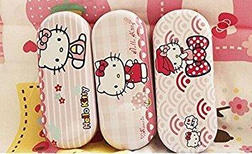 1x zufällige Hello Kitty Design New 15cm empfindliche Augen Brille Box Case-Halter; Container Halter Organizer Eyewear Box
