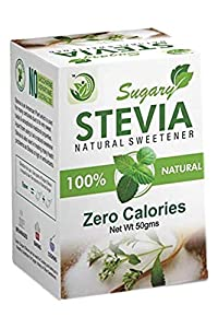 Sugary Stevia, Natural Sweetner, Zero Calories - 50 GMS Pack