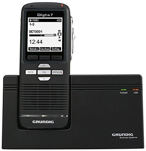 digitales Diktiergerät Digta 7 im Premium Set (SDM7030-22), Handgerät mit Dockingstation, Diktiersoftware und Zubehör