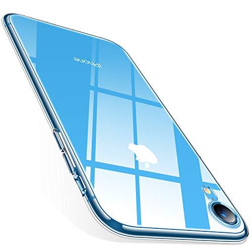 TORRAS Crystal Clear Kompatibel mit iPhone XR Hülle, Transparent [Anti-Gelb] Handyhülle Schutz Weiche Silikon TPU Bumper Case Scratchproof Durchsichtige Schutzhülle für 6,1 Zoll iPhone - Klar