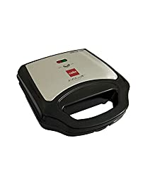 Cello Super Club Ultra GM - 700 Watts Premium Quality Grill And Sandwich Maker In Steel Body (Black)