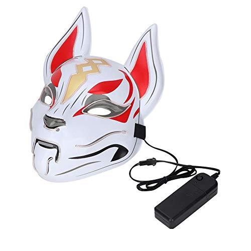 Guter Kerl Kostüm Halloween - Glow Animals Mask, LED Leucht Kostüm für Halloween Party Prop Show Decor(Weiß)