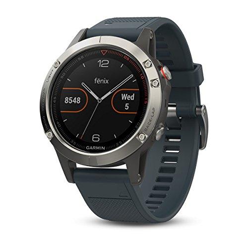 Garmin Fenix - Reloj Multideporte, con GPS y medidor de frecuencia Cardiaca, Lente de Cristal y Bisel de Acero Inoxidable
