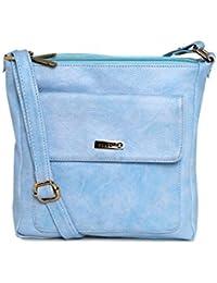 ESBEDA Light Blue Color Solid Slingbag For Women
