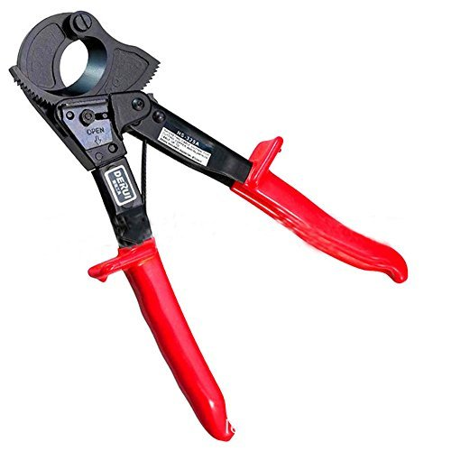 Heavy Duty Ratsche Kabelschneider Draht Cut bis 240 mm,Abisolierzange Handwerkzeug für Kupfer- und Aluminiumkabel NeuheitAluminium und Kupfer Kabel