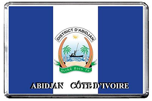 A030 ABIDJAN FLAG KÜHLSCHRANKMAGNET CITY OF CÔTE D'IVOIRE REFRIGERATOR MAGNET