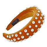 Dorical Banda para Mujer Diadema Para Mujer Chica Niñ Anillo de esponja de terciopelo dorado de espuma accesorio para el cabello Anchas Diadema de Nudo Bandas de Pelo para la Cabeza