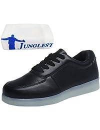 (Presente:pequeña toalla)Negro EU 42, moda Recargable con JUNGLEST® Zapatillas Planos Luz LED