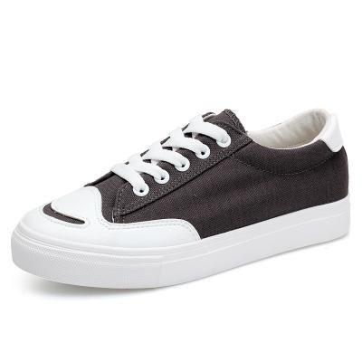 Damen / Frauen lächeln beiläufige flache Schuhe Art- und Weisesegeltuch schnüren sich oben Schuhe für Frühling und Sommer drei Farben für das Wählen Grey