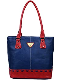 Fantosy Blue And Red Women Handbag (FNB-696)