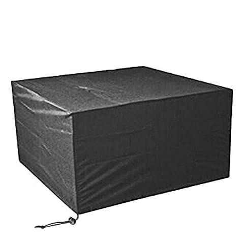 Xiliy Möbel Schutzhülle Abdeckhaube Polyester Hülle für Tisch Stühle Tabelle Schwarz ( 213 x 132 x