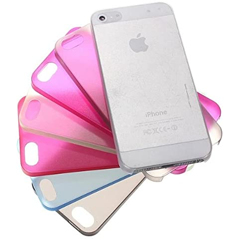 0.2mm Thin Clear silicona suave Mate Case para el iPhone 5 5S.