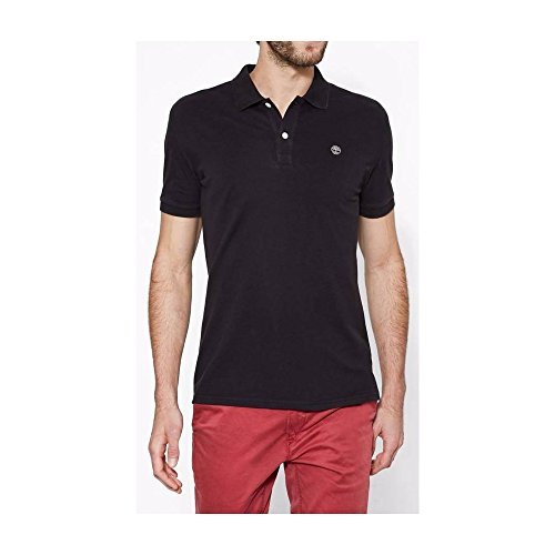 TIMBERLAND - Timberland Stonybrook Stretch Pique Polo Uomo Blu Slim Fit T41(P.Blk)