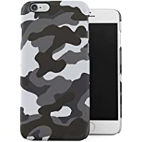 Gray Snow Camouflage Camo Apple iPhone 6 / iPhone 6S Snap-On Hard Plastic Protective Shell Case Cover Carcasa