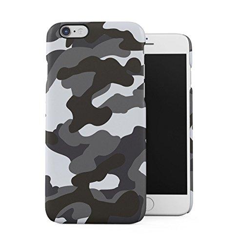 Grau Snow Camouflage Camo Dünne Handy Schutzhülle Hardcase Aus Hartplastik Hülle Kompatibel mit iPhone 6 / iPhone 6S Handyhülle Case Cover