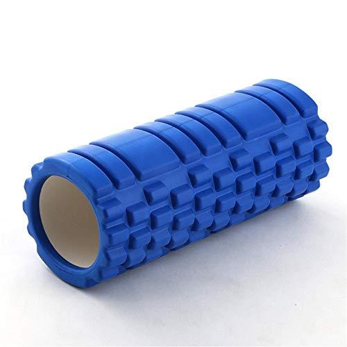 Yoga Säule Schaumstoffrolle Mace Hohle Yoga,Säule Eva Tiefenmassagestab,Muskelentspannungsrolle Yogastab Schaumschaftrolle,Blau