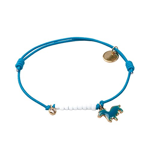 lua accessories - Armband Damen - Elastikarmband - größenverstellbar - Tiermotiv - Animal Farm (Dackel/blau) -