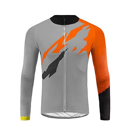Uglyfrog Fahrradtrikot Herren Langarm Thermo Radtrikot Pro/Windstopper/Atmungsaktiv/Fleece/Reflektoren/Full Zip/Warm Mantel