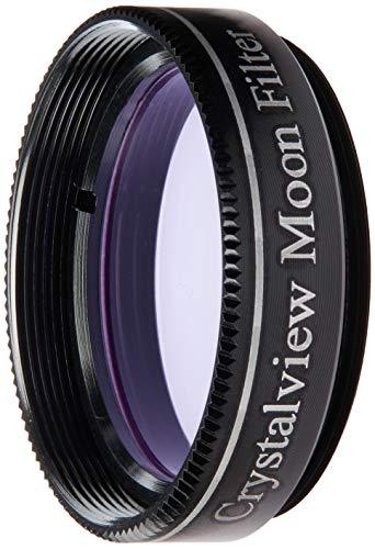 Gosky 1.25 Crystalview Moon Filter for Telescope Eyepiece - Standand 1.25inch Filter Thread - Metal Frame - Optical Glass - Enhance Lunar Planetary Views - Eliminate The Street Light Smog