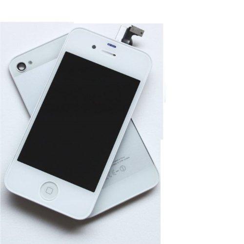 KIT COMPLET VITRE TACTILE+ECRAN LCD+COQUE ARRIERE POUR IPHONE 4S BLANC