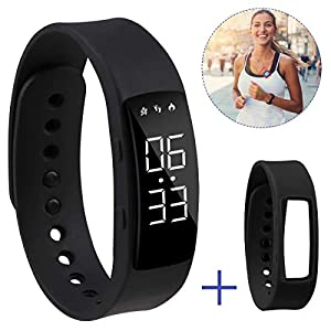 Hootracker Pulsera Actividad Fitness Smart Watch Tracker Contador de Pasos, Contador de Calorías,Distancia niños Mujer… 15