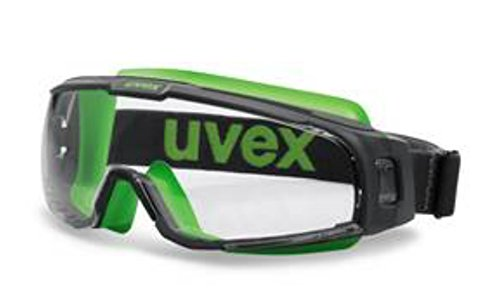 Image of uvex u-sonic Compact Goggles (Grey/Lime- Clear Lens)