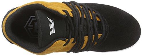 Supra - Estaban, Sneaker Alte Unisexe - Adulto Nero (schwarz (noir / Cathay Spice - Blanc Spb))