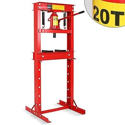 Werkstattpresse Lagerpresse inkl. Hydraulikpumpe und 2x Druckplatten Hydraulikpresse Dornpresse (max. 20T)