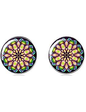 Tizi Jewellery Handgemachte 925 Sterling Silber Ohrringe Ohrstecker 12 mm für Damen und Mädchen Geschenk perfekte...