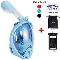180degrés de plongée Tuba par vaporcombo sans haleine, Anti-Buée et anti-fuite pour plongée masque W/fixation GoPro + sans accessoires
