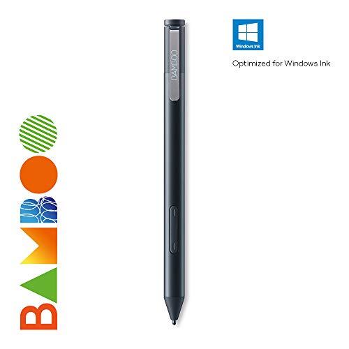 Wacom Bamboo Ink Eingabestift (für kreatives Arbeiten und Schreiben an Windows-10 Geräten, Aktiver Touch Pen zum Zeichnen und Schreiben für Alltag, Büro oder Uni) schwarz
