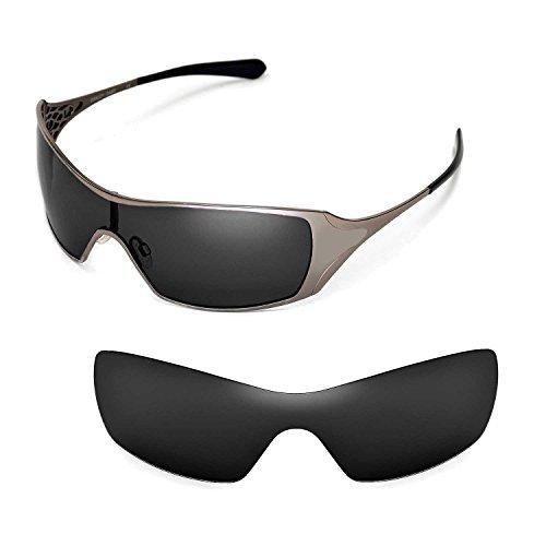 Walleva Ersatzgläser für Oakley Dart Sonnenbrille - Mehrfache Optionen (Schwarz - polarisiert)