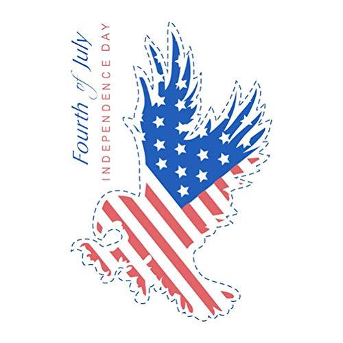 Amosfun 4. Juli Unabhängigkeitstag amerikanische Flagge Wand Aufkleber Wand Kunst Auto Aufkleber für 4. Juli Dekorationen Lieferungen