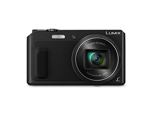 Panasonic lumix dmc-tz57eg-k fotocamera, sensore mos 16 mp, zoom ottico 20x, video full hd, wink detector, wi-fi certified, nero