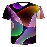 Men's 3D Printed Abstract Vertigo Geometry Graphic Casual T-Shirt Crewneck Short Sleeve Novelty Cool Top Tees 466 4XL