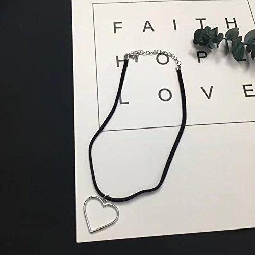 BAOZIV587 Kleine frische Halskette weibliche einfache Schüler Sen Schlüsselbein Kette Schwester Kette kurzen Halsband Kragen, Silber Liebe